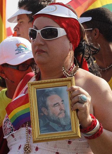 Teilnehmerin bei einer Veranstaltung zum Internationalen Tag gegen Homophobie am 14. Mai 2011 in Havanna  Foto: Reuters